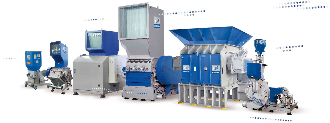 Granulator, Shredder, Slow-Speed Granulator, Pulverizers, Recycling Technology from ZERMA